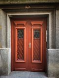 The front door of the house, Entrance, Part of the house. The front door of the house, Entrance, Part of the house, House door royalty free stock photos