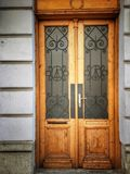 The front door of the house, Entrance, Part of the house. The front door of the house, Entrance, Part of the house, House door stock images