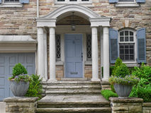 Front door. House front door with portico Stock Image