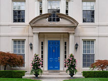 Front door of house royalty free stock photos