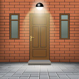 Front door of a house Stock Photography