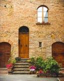 Front Door Italian Town Home royaltyfria bilder