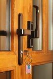 Front door with key. Stock Image