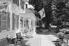 Front Door, Main Street, banlieue noire de Cranbury, NJ Image libre de droits