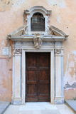 Front door of a medieval church Stock Photography