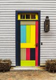 Front Door of a House in Portsmouth NH. Front Door of a New England house in Portsmouth, New Hampshire Royalty Free Stock Image
