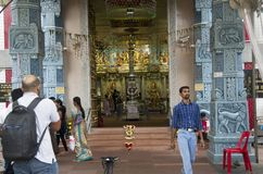 Free Front Door Of An Indian Church In Singapore Stock Image - 92633871