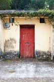 Front door of old chinese house Stock Photography