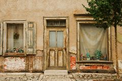 Front door. From a old house Royalty Free Stock Image