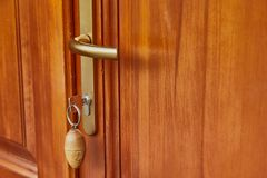 Front Door Open. Sunny weather outside stock image