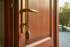 Front Door Open Royalty Free Stock Photography