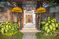Front Door Outdoor Luxury Villa Royalty Free Stock Photography