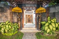Front door outdoor luxury villa Royalty Free Stock Photography