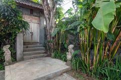 Front door outdoor traditional villa Stock Photos