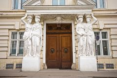 Front door of Palais Pallavicini in Vienna Stock Images