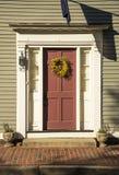 Front Door rouge à Boston Image libre de droits