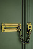 Front door security chain Royalty Free Stock Image