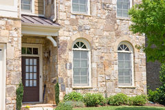 Front Door on Stone House Royalty Free Stock Photos