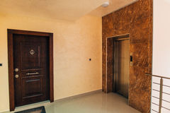 The front door to the apartment. Royalty Free Stock Photos