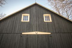 Front Door Of Traditional American Midwest Barn royalty free stock photography