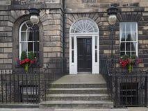 Georgian stone house in Edinburgh. Front door of typical Georgian stone house in Edinburgh royalty free stock images
