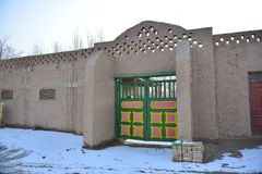 The front door of Uighur characteristic dwellings Stock Photos