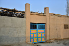 The front door of Uighur characteristic dwellings Royalty Free Stock Images