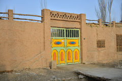 The front door of Uighur characteristic dwellings Stock Photography