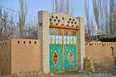 The front door of Uighur characteristic dwellings Stock Images