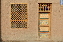 The front door of Uighur characteristic dwellings Royalty Free Stock Photos