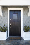 Front door of an upscale home stock image