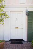 Front door of an upscale home royalty free stock photography