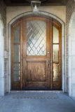 Front door of an upscale home stock photos