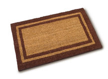 Front Door Welcome Mat Stock Photo