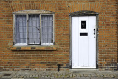 Front door and window Royalty Free Stock Photo