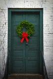 Front Door Wreath rústico Imagem de Stock
