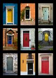 Front Doors. Collection Of House Front Doors From Around The World Royalty Free Stock Photos