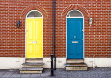 Front Doors of Attractive London Houses. With brick walls Stock Photos