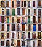 Front doors, Barcelona, Spain Royalty Free Stock Photo