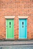 Front doors Stock Image