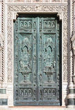Front doors of Cathedral of Santa Maria del Fiore, Florence - Italy Stock Photography