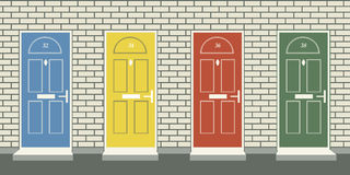 Front doors Royalty Free Stock Photography