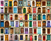 Front doors from everywhere Royalty Free Stock Photos