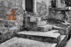 Front Doorsteps av ett tegelstenhus Royaltyfria Bilder
