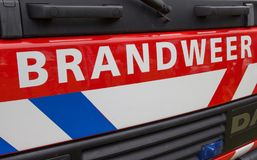 Front of a dutch fire truck Royalty Free Stock Photo