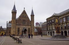 Front of the Dutch Ridderzaal stock images