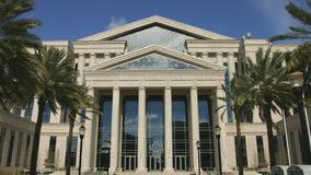 Front of Duval County Courthouse in Jacksonville, Florida stock footage