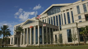 Front of the Duval County Courthouse in Jacksonville, Florida stock video