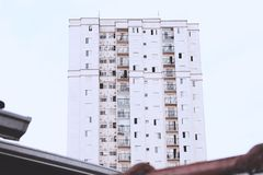 Front einer Gebäudeansicht lizenzfreie stockbilder