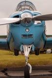 Front eines Flugzeugpropellers Stockfotografie